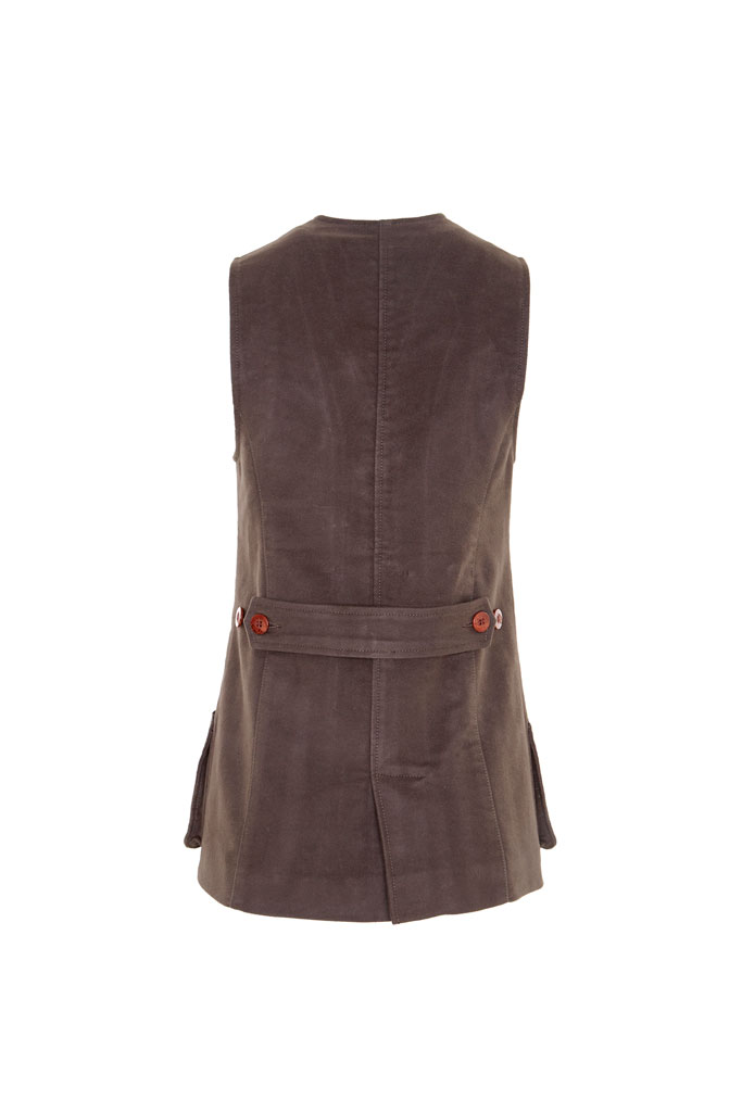 Gamebirds Clothing Widgeon Moleskin Shooting Waistcoat - Chocolate