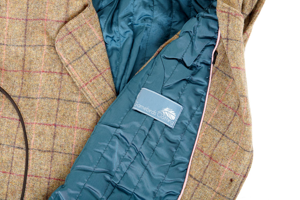 Gamebirds Clothing Tweed Waistcoat - Quilted lining
