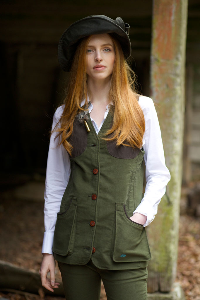 Gamebirds Clothing Widgeon Moleskin Shooting Waistcoat - Moss