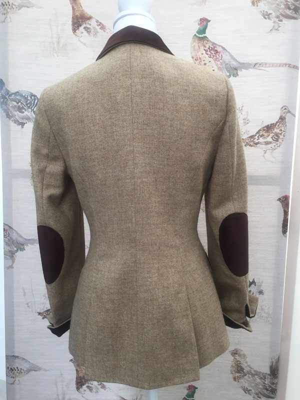 Gamebirds Clothing Ladies Curlew British Tweed Jacket Oatmeal suede elbow patches