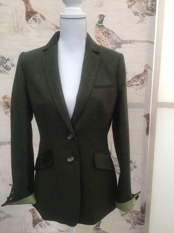 Gamebirds Clothing Ladies Curlew British Tweed Jacket Pine Green
