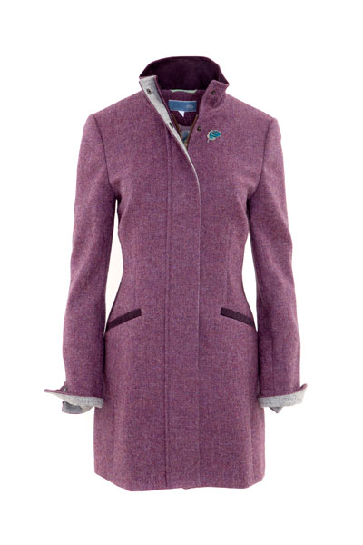 Ladies British Kingfisher Tweed long Jacket