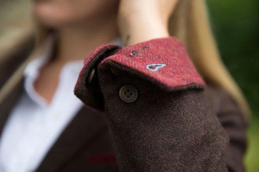 Ladies Sandpiper Fitted Tweed Jacket cuff detail