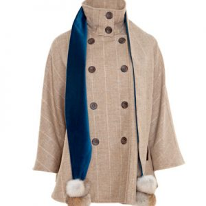 Ladies British Tweed Cape with scarf