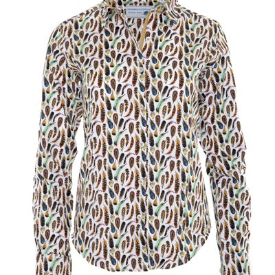 Gamebirds Clothing Feather print shirt