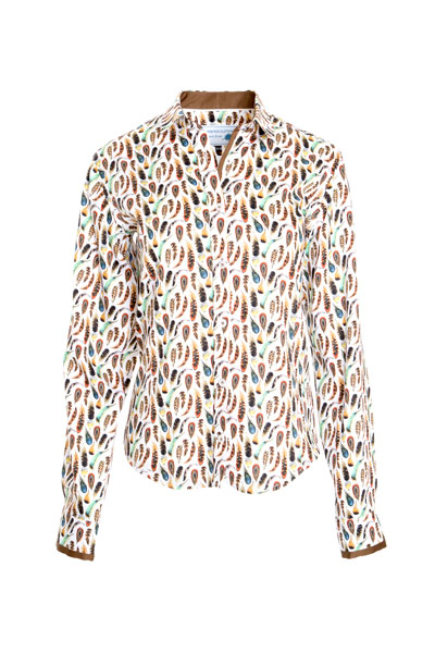 Feather print shirt by Game Birds clothing
